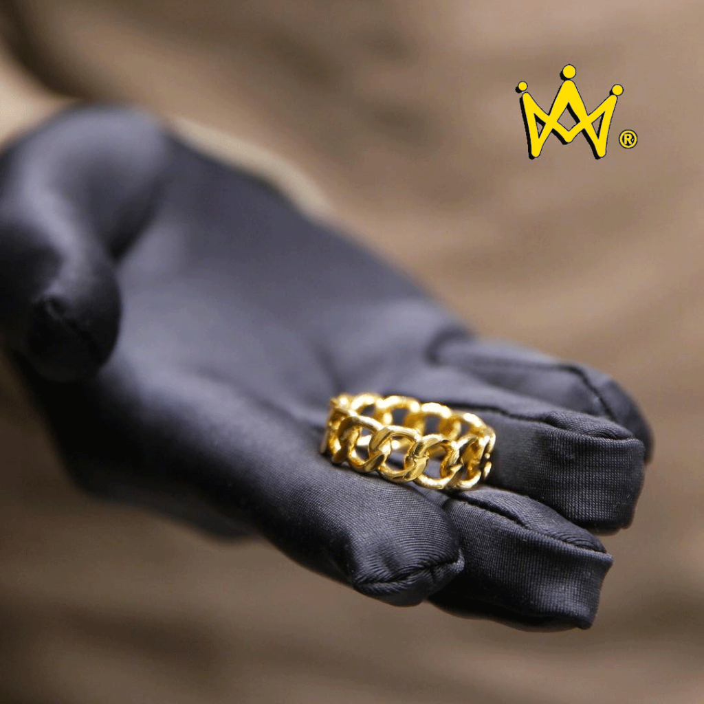 the iced out cuban ring gold